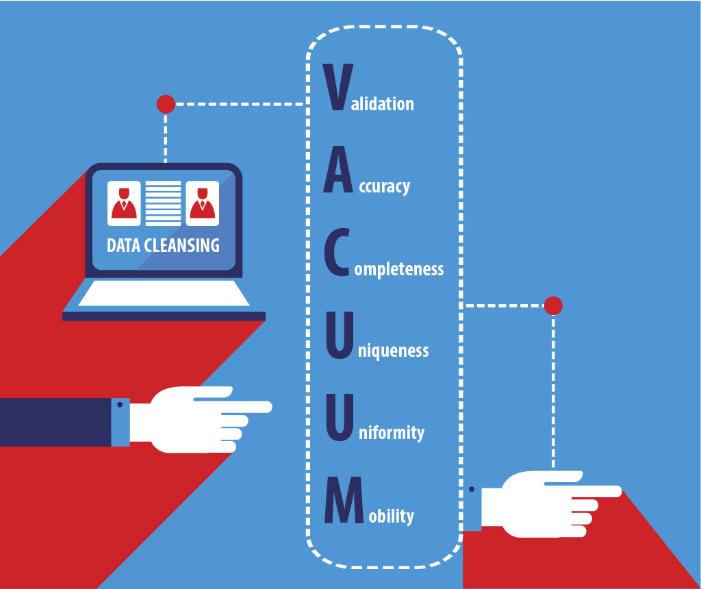 vacuum methodology for data cleansing service used by momentum